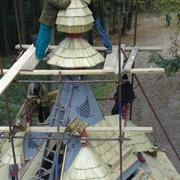Jurkovičkova rozhledna - stavění