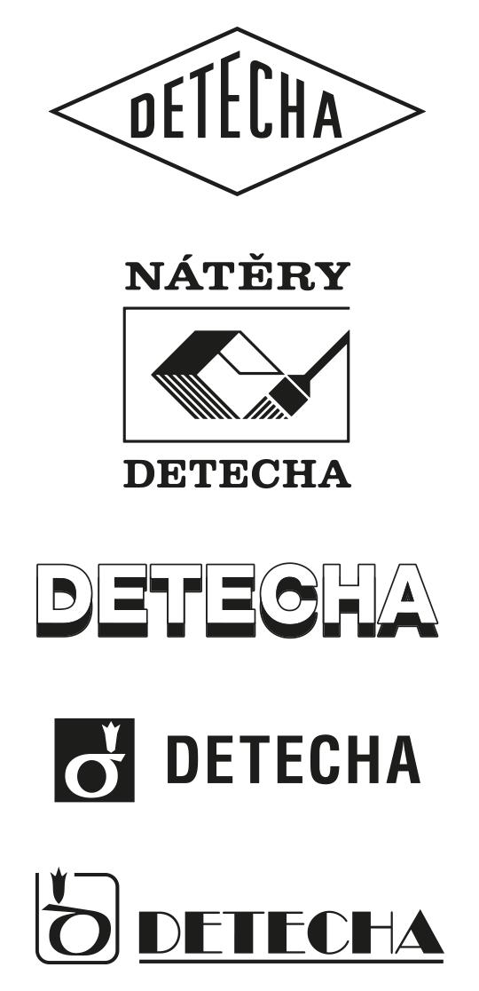 historická loga Detecha